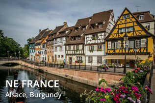 Northeast France - Alsace, Burgundy