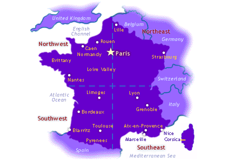 Map of France Region