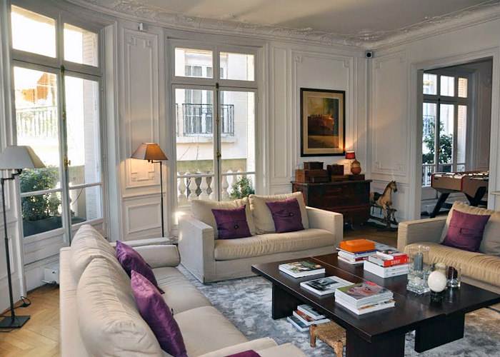 Paris France Flat Living Room