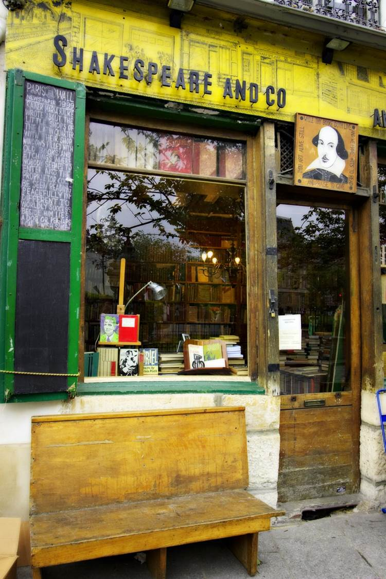 Shakespeare and Company Bookstore Latin Quarter Paris Front View